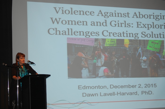 Native Women's Association President Dawn Lavell-Harvard