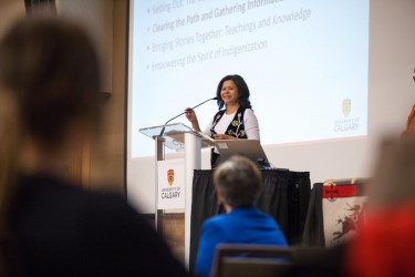 Jackie Ottmann, co-chair of the University of Calgary's Indigenous Strategy stee