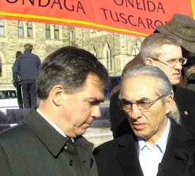 Indian Affairs Minister Jim Prentice with AFN Chief Phil Fontaine in 2007.
