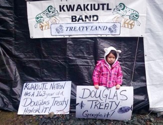 Kwakiutl First Nation continues protest near Port Hardy