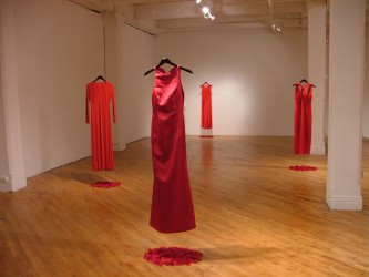 Métis artist Jaime Black's Red Dress Display