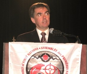 Jim Prentice speaking at AFN Assembly in 2007