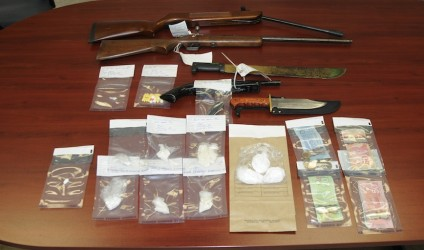 Seized from a warrant issued for search of a residence in Fort Macleod.