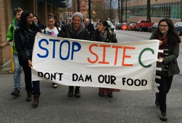 Site C protest in Vancouver - March 2016 - file
